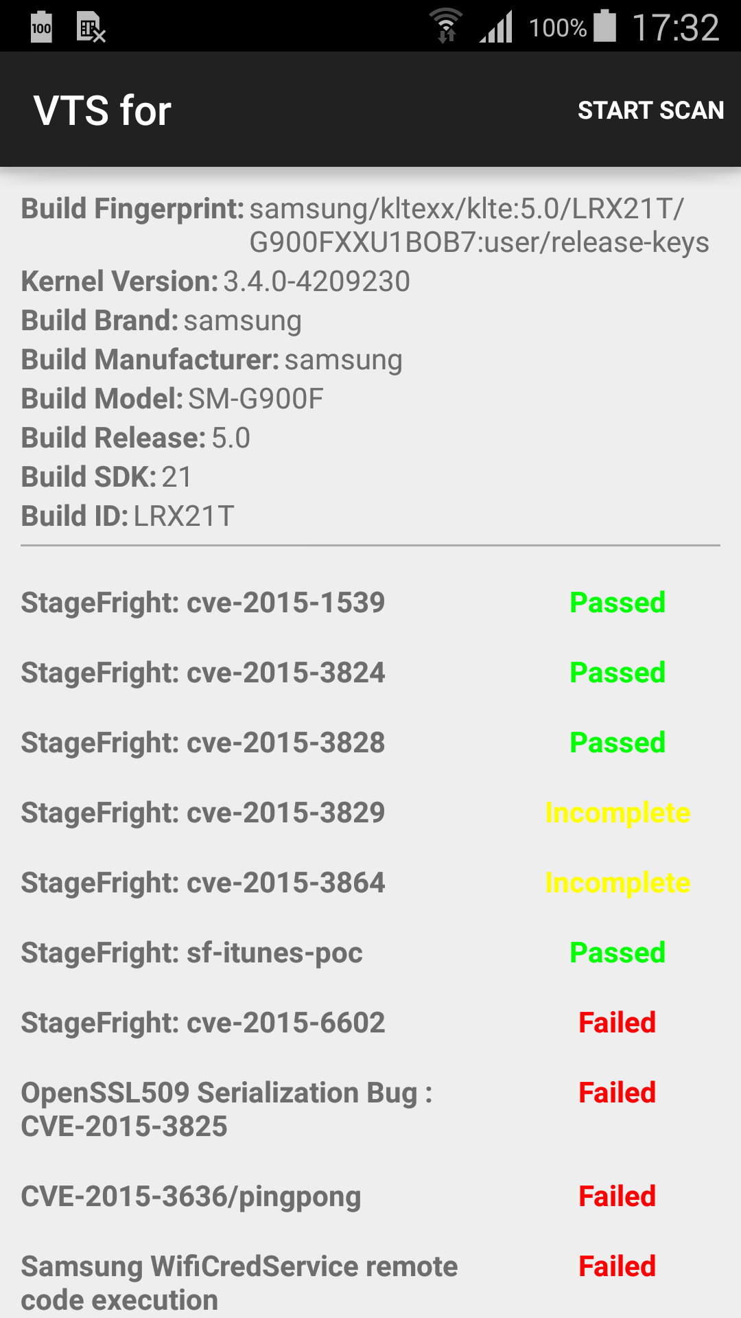 Remote Code Execution as System User on Android 5 Samsung Devices